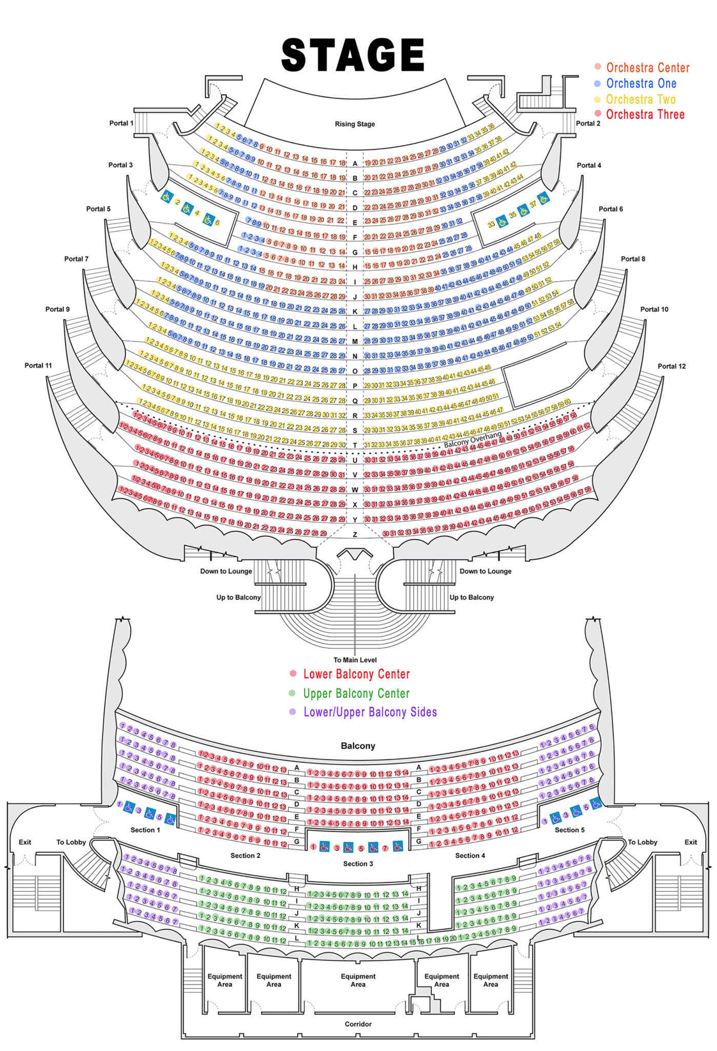 Seating chart and views broadway theatre league of huntsville